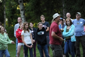 Group of youth outdoors
